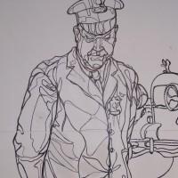 Detail of street cop