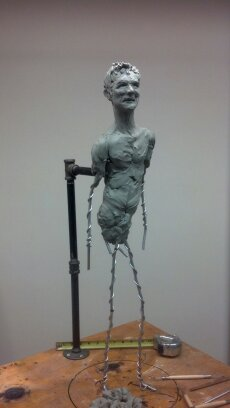 Just putting clay on the armature
