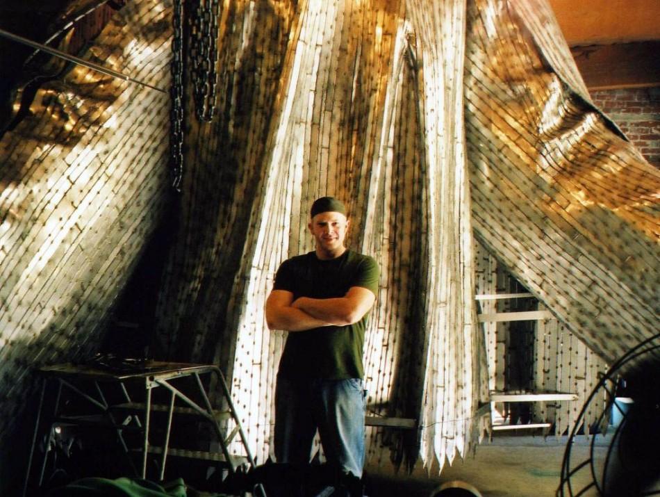 Matt Large in the studio