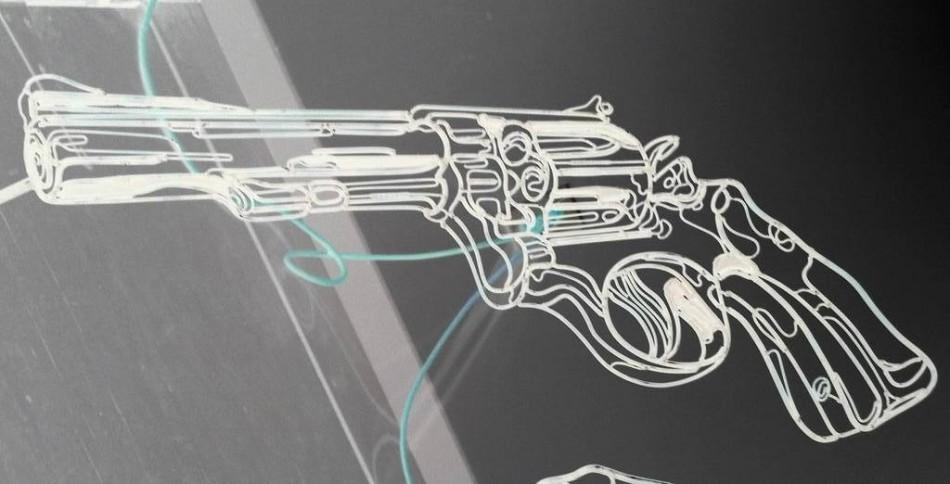 Murder Weapon in negative